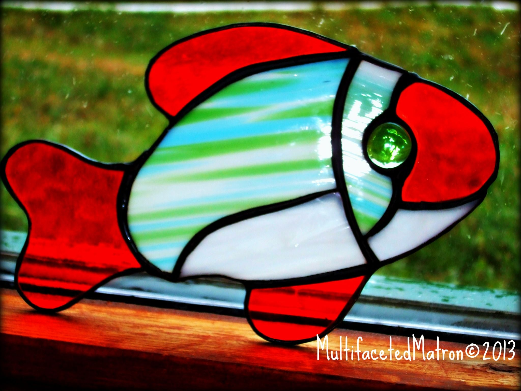 Stained glass fish by monique art under the sea for Stained glass fish patterns