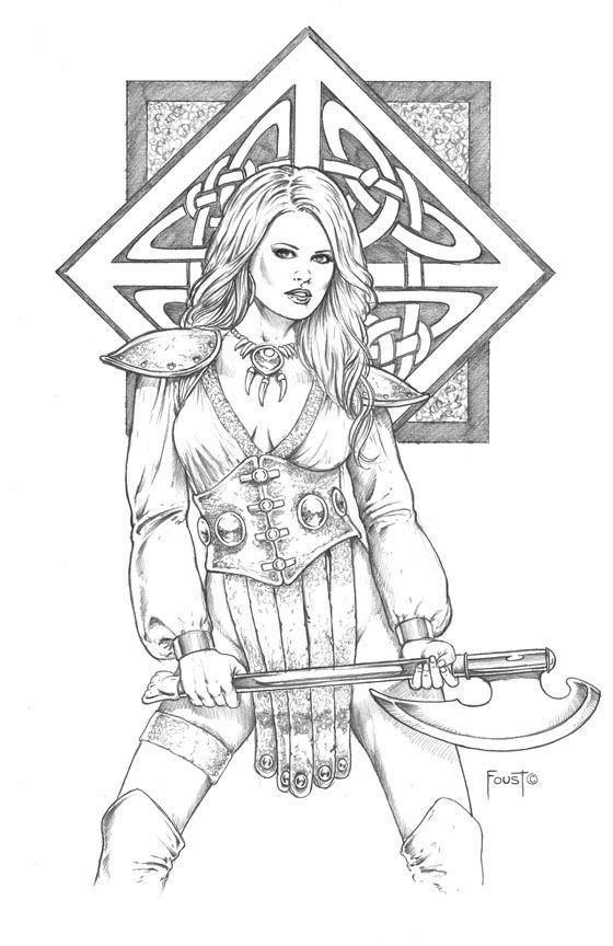 Warrior Princess Kyleigh Character Portraits Warrior Princess Art