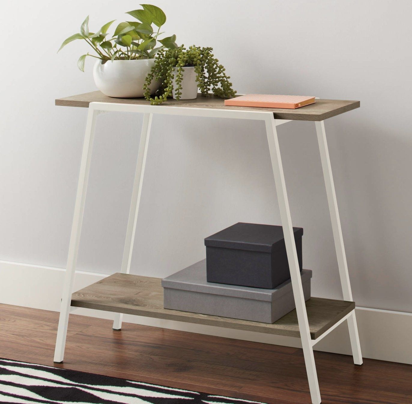 31 Things From Walmart That Ll Make Your Every Room In Your House Feel Refreshed In 2021 Console Table White Side Tables Skinny Console Table [ 1344 x 1372 Pixel ]