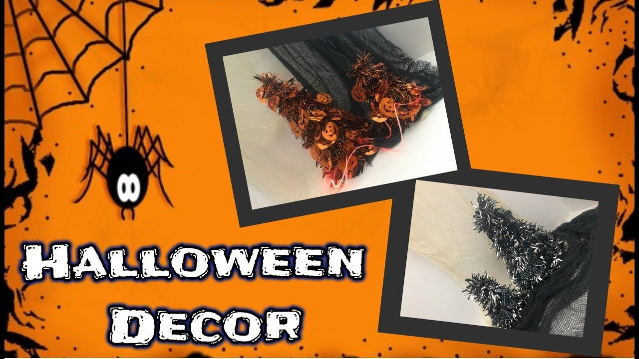 diy dollar tree halloween decor spooky halloween trees youtube