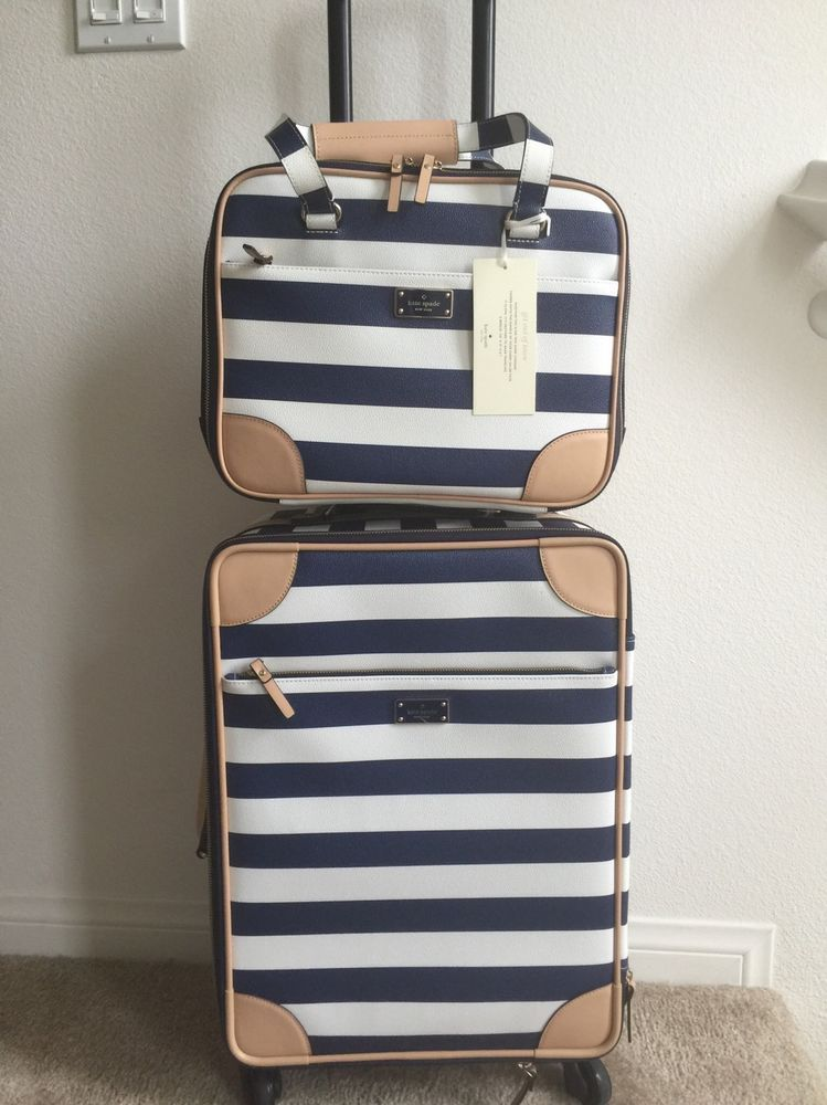 Nwt Kate Spade Bon Voyage International Carry On Topper Travel Set 1100 Tax In Luggage Ebay