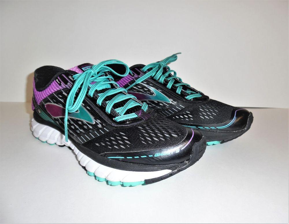 1f1bcf18f71 Women s Brooks Ghost 9 Running Shoes Black Sparkling Grape Ceramic   Size  US 8.5  Brooks  RunningCrossTraining
