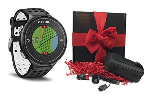 Garmin Approach S6 GIFT BOX  Includes Golf GPS Watch Case Wall  Car Charge Adapters Black *** You can find out more details at the link of the image.