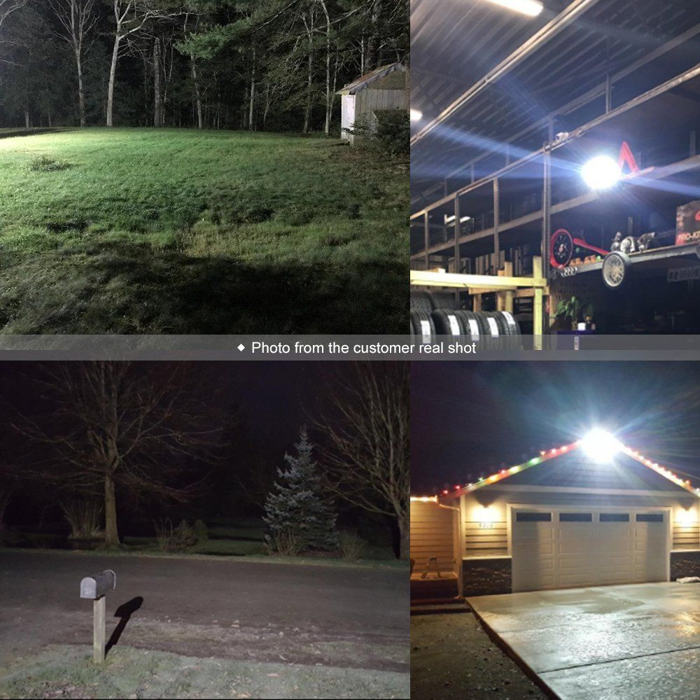 Glorious Lite Led Flood Light 100w 500w Halogen Equiv Ip66 Waterproof Outdoor Work Lights 6500k Daylight White 8000lm 110v Led Flood Lights Flood Lights Led Flood