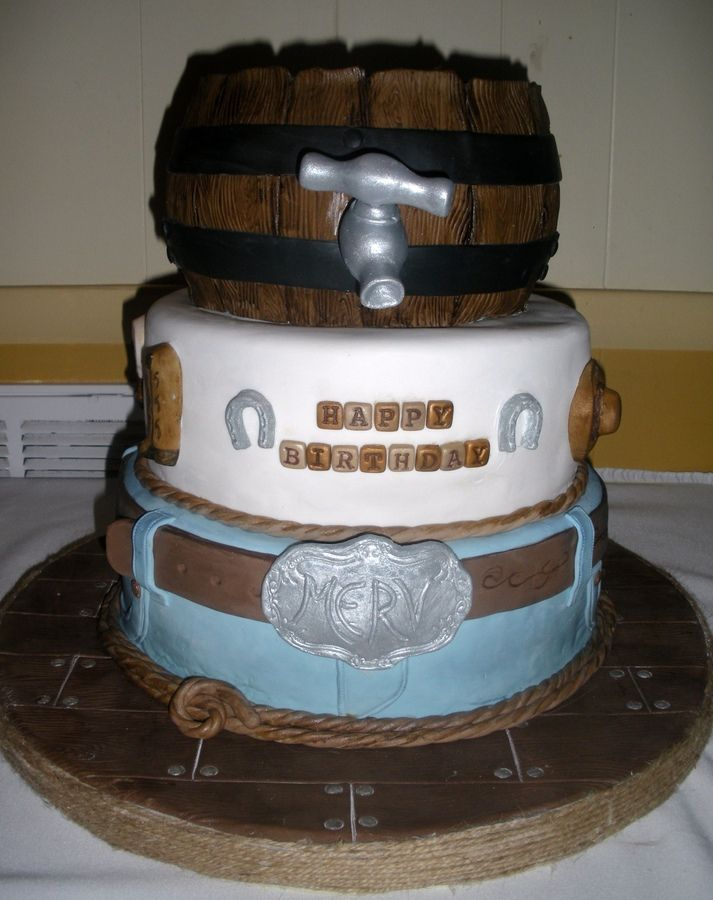 That John Wayne Cowboys John Wayne Cowboy Theme Birthday Cake