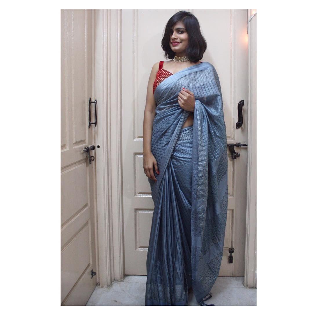 "APOORVA KUMAR on Instagram: ""2/3 . . . . . . . . . . . . . . . . . . . . . .  #saree #handloomsarees #instastyle #wiwt #lookbook #fblogger #outfitoftheday #fashionlover…"""