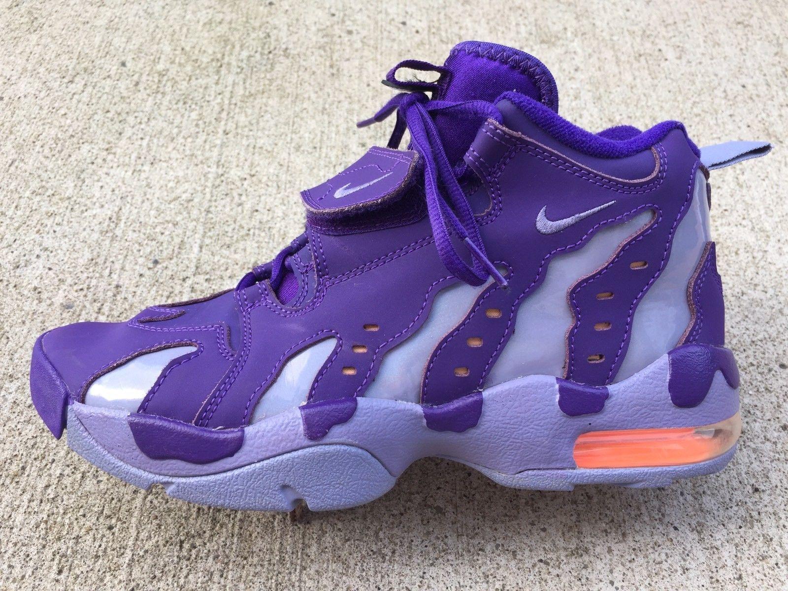 b07597628e NIKE AIR DIAMOND TURF Youth Athletic Basketball Shoes Size 7Y Purple 616502- 500 | eBay