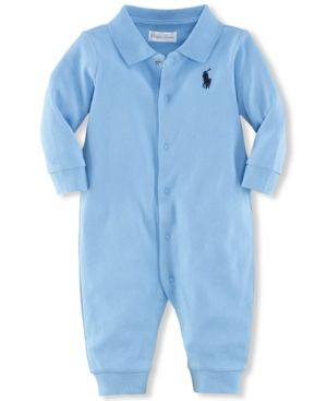 92d74352 Ralph Lauren Baby Boys Classic Polo Coverall - French Navy ...
