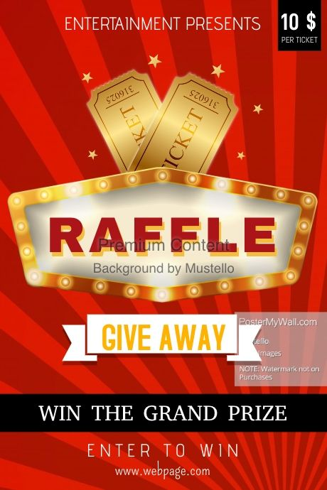 find design templates for raffle contest  easy to