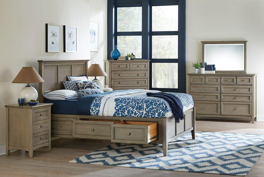Alder Wood McKenzie 48 Drawer Storage Bed In Fieldstone Finish New Mckenzie Bedroom Furniture Ideas Design