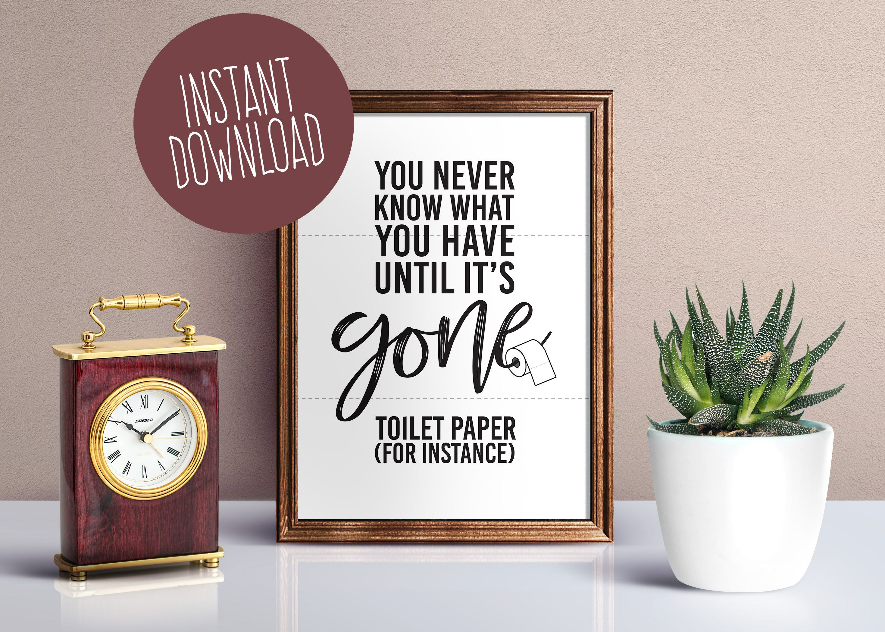 Bathroom Wall Art Decor Until It S Gone Printable Bathroom Wall Decor Funny Bathroom
