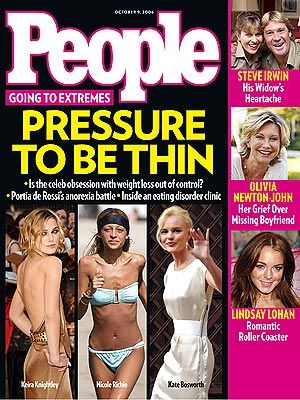 How does the media promote and encourage eating disorders among females?
