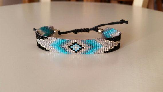 Bracelet perles tissé à la main avec bougie corde/métier à tisser perles bracelet/perles Bracelet avec perles de delica Miyuki