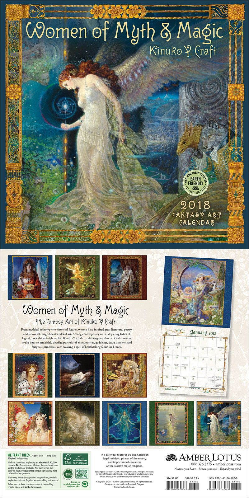 Women Of Myth Magic 2019 Wall Calendar 2018 Wall Calendars
