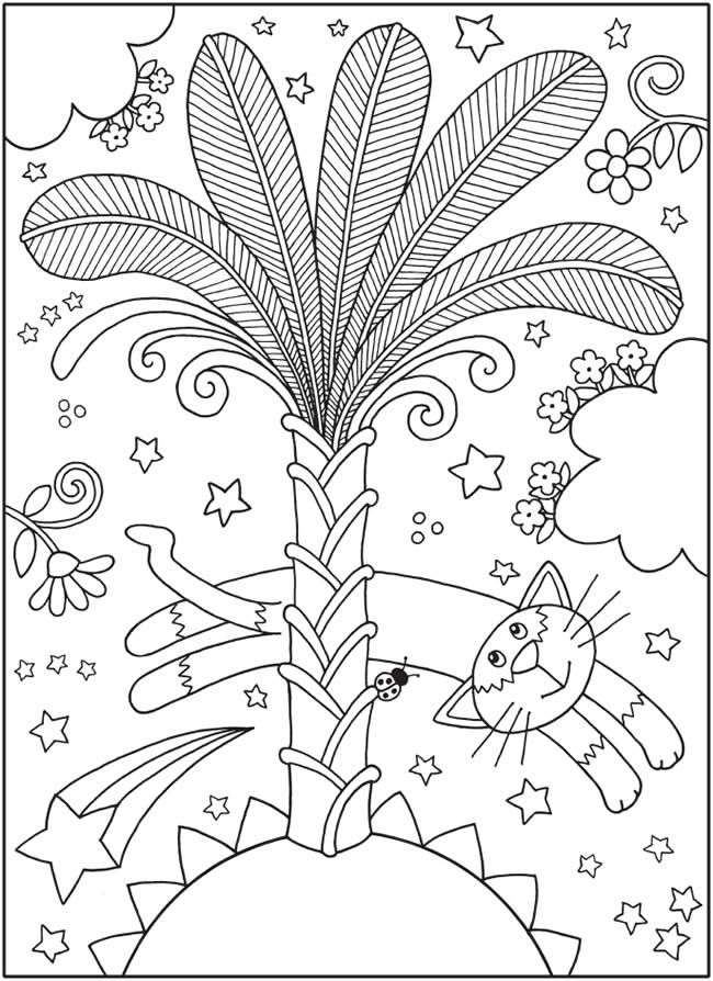 SPARK Curious Cats Coloring Book -- 6 sample pages | Coloring Pages ...