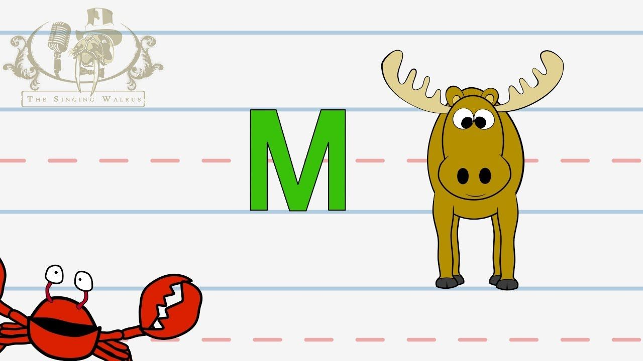 Alphabet Write The Letter M The Singing Walrus  Abc Lesson For