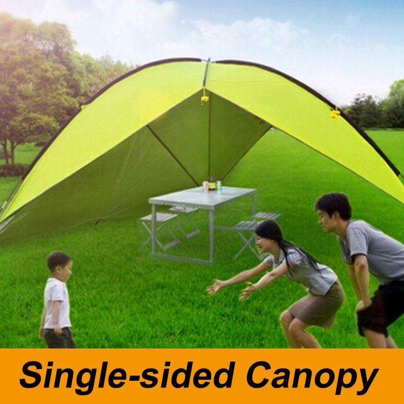Outdoor Large Single Side Canopy Awning Tent Beach Sun Shade Rainproof UV-proofu2026 & Outdoor Large Triangle Single Side Camping Tent Beach Sunshade ...
