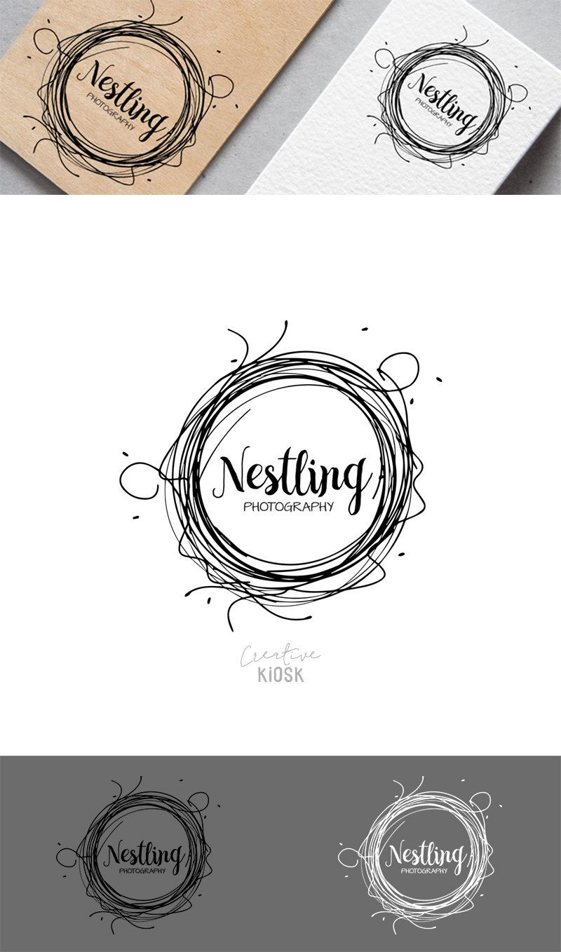 Nest Logo. Instant Download Logo. Premade Logo Design. DIY Watermark ...