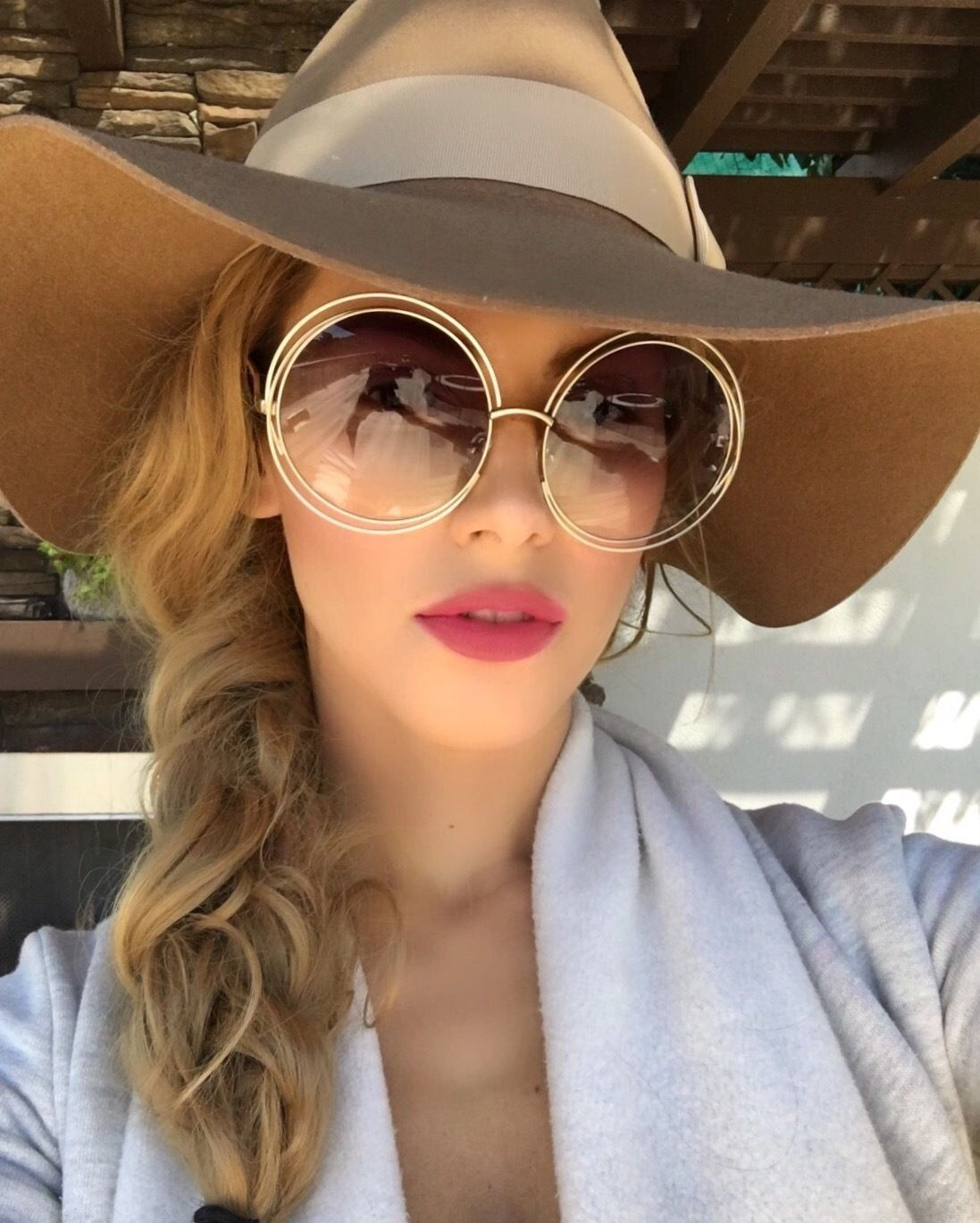 Carlin Oversized Big Xxl Round Roxanne Women Sunglasses Double Wire  Coachella 26aff1f18d1d