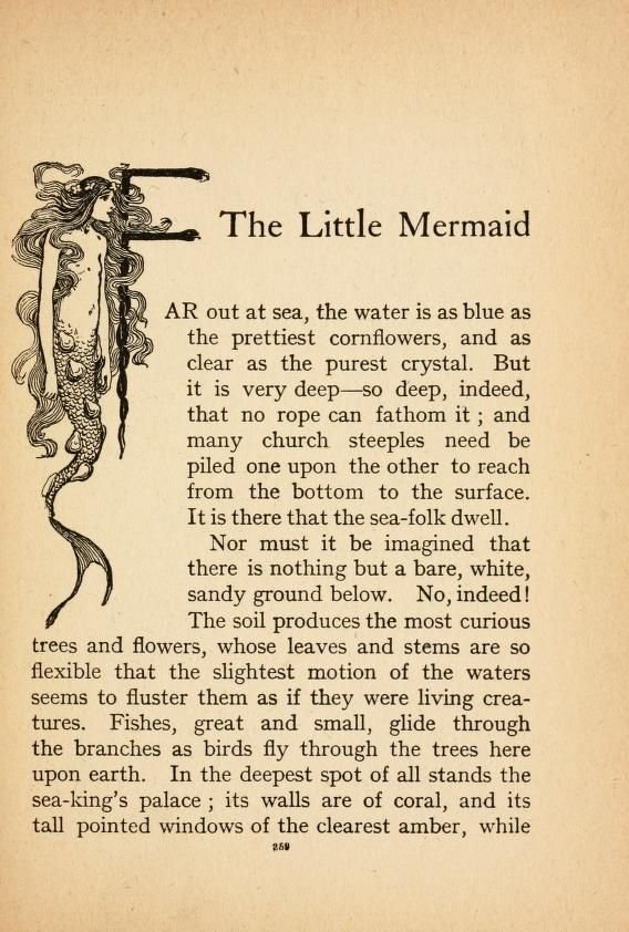 07cf10c2793 The Little Mermaid is a fairy tale by the Danish author Hans Christian  Andersen (1805-1875) and was first published in 1837 #hanschristianandersen