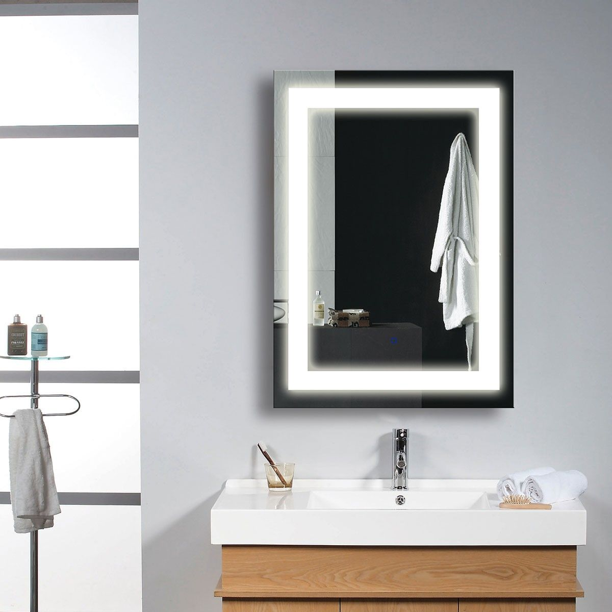 brilliant cabinet choice mirrors bathroom home mirror led of doherty best house