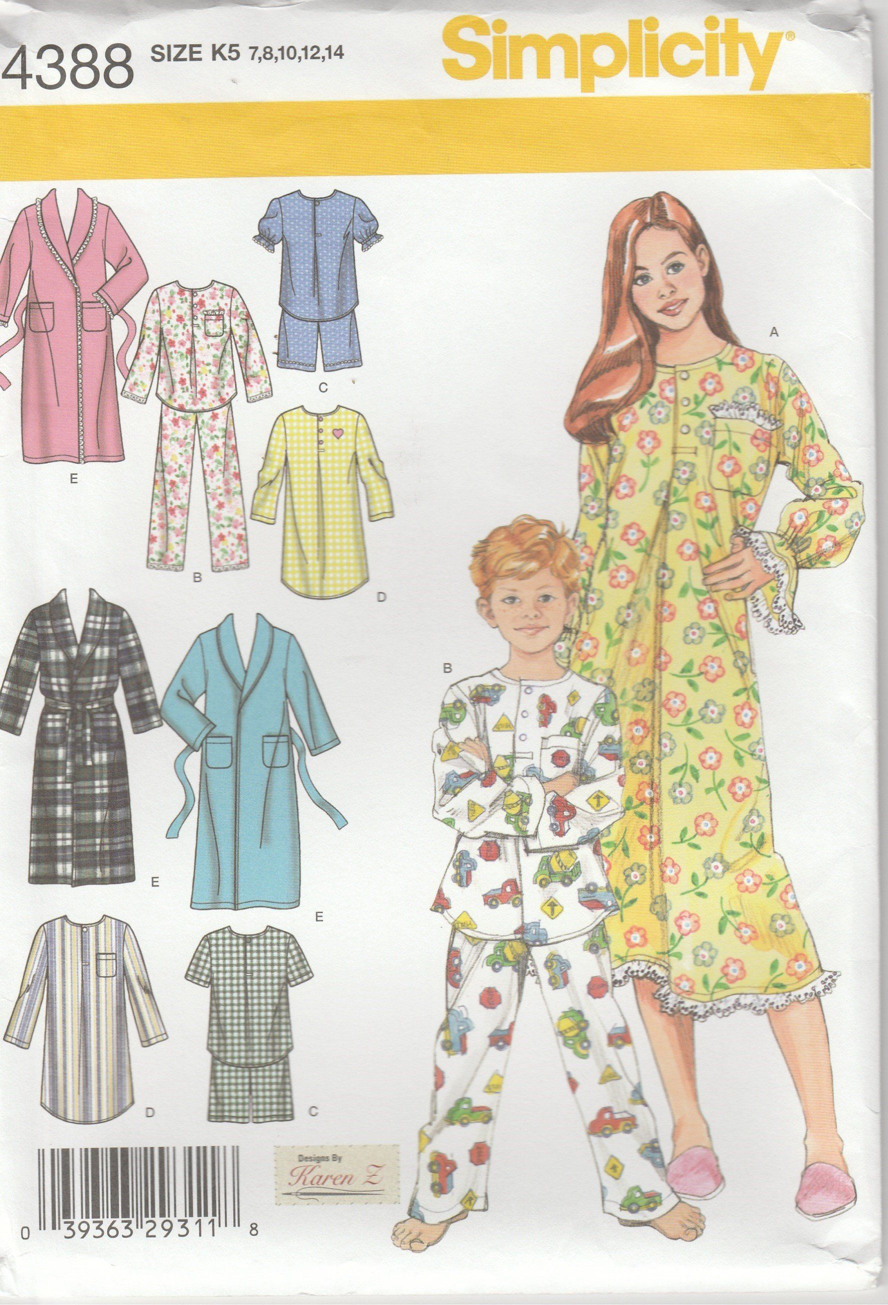 Simplicity Patterns ~ All Patterns are Size 5-8 ~ ~ ~ Listing 7407