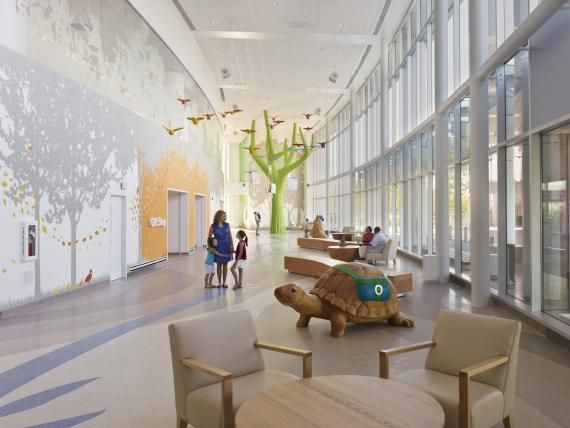 The Entry Lobby Of Nature Themed Nationwide Children S Designed By Fkp Houston Is A Light