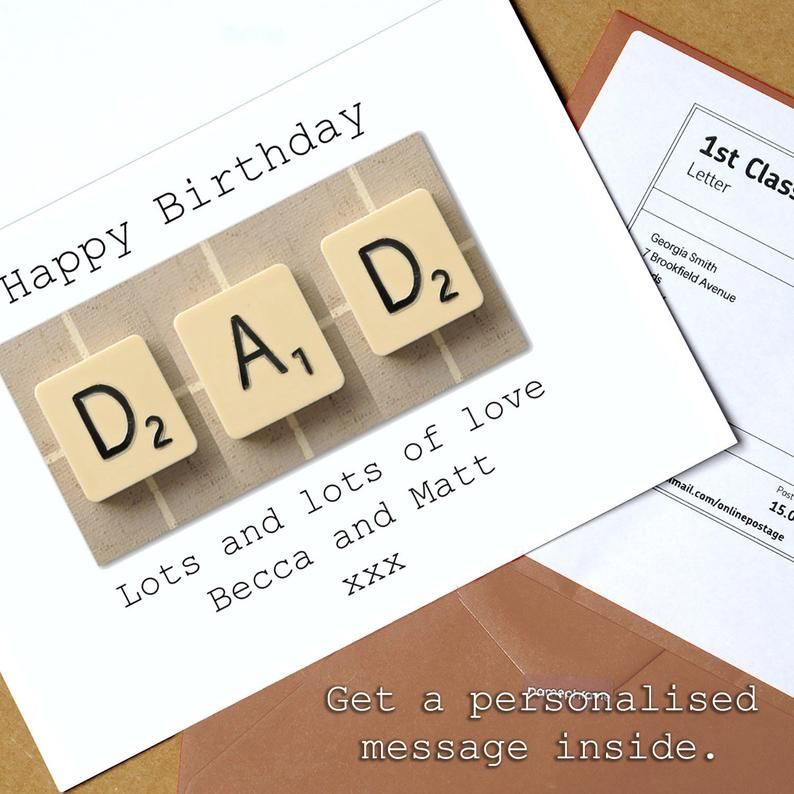 Scrabble 65th Birthday Card 65 Its Only 25 In Scrabble 2 Etsy 65th Birthday Cards 90th Birthday Cards Birthday Cards For Brother