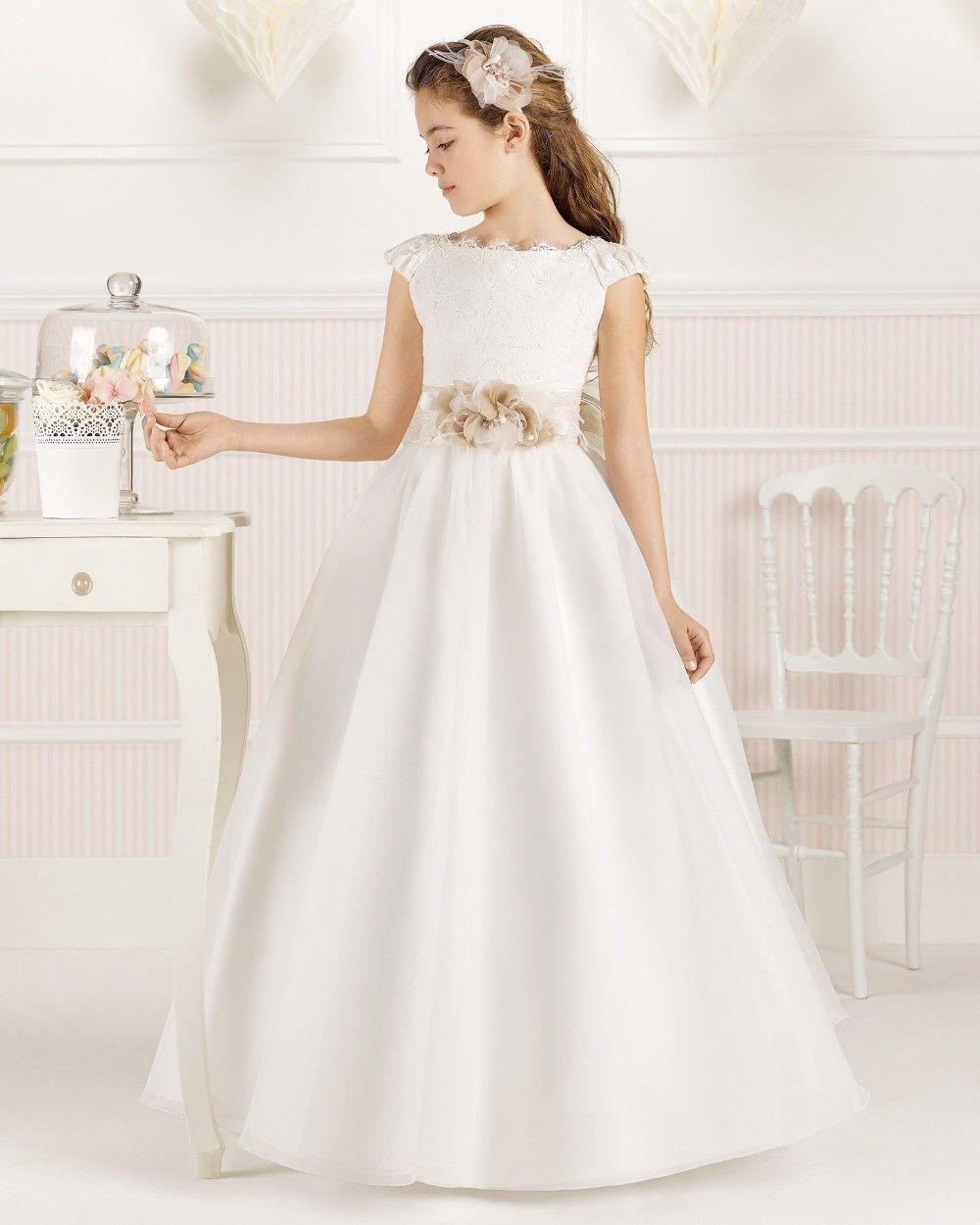 Precioso Vestido De Primera Comunión Para Niñas De 8 A 13