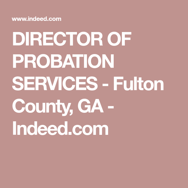 Fulton county ga adult probation