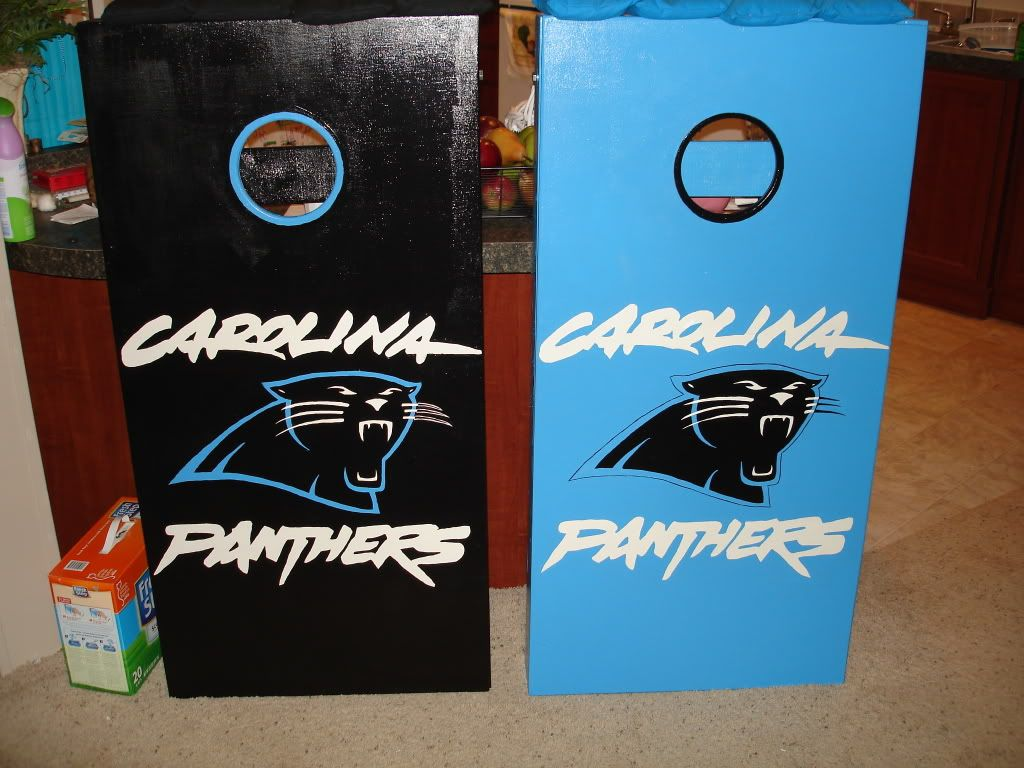 Panthers Cornhole Boards Present For Dads Birthday Katherine