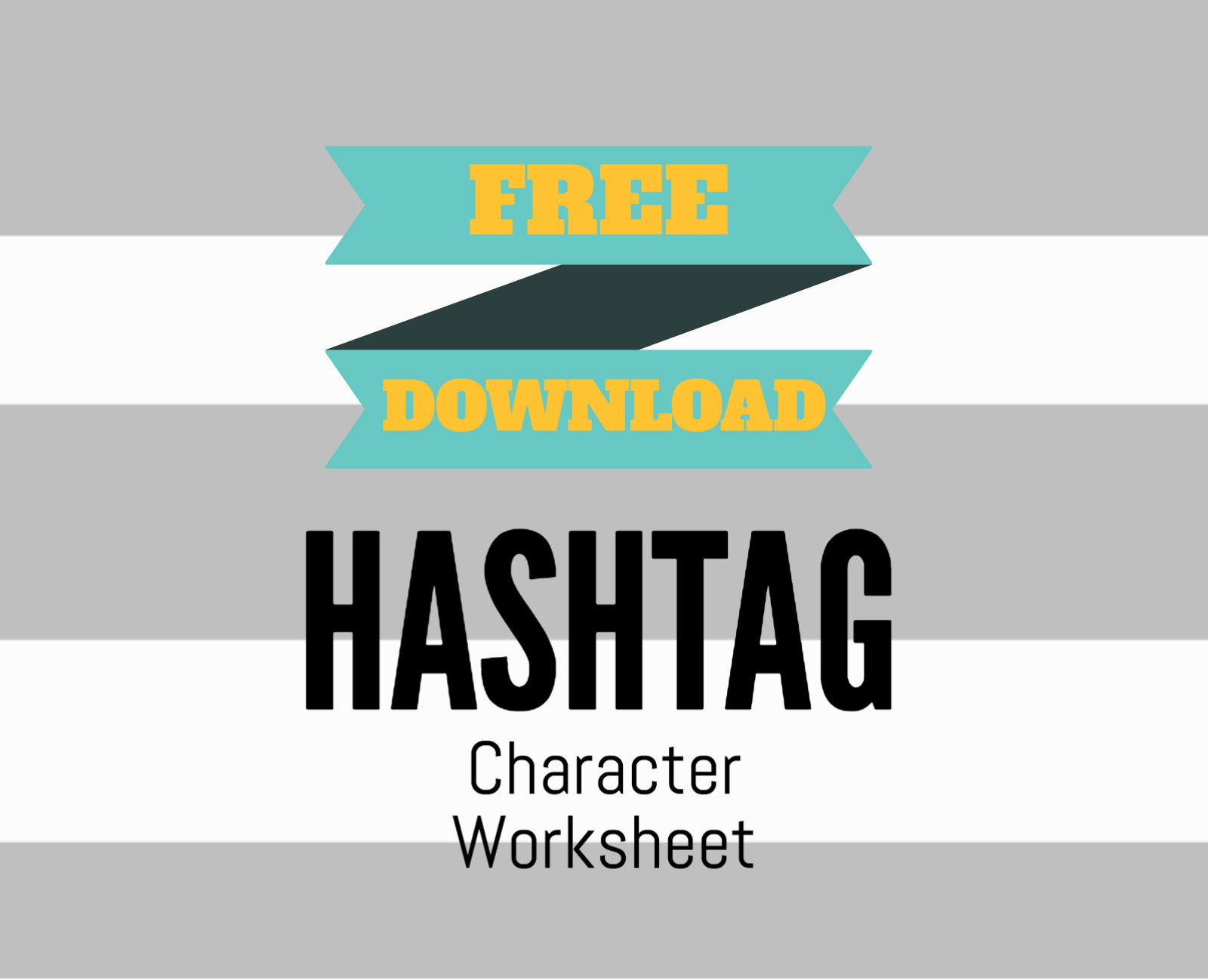 Free Hashtag Character Development Worksheet