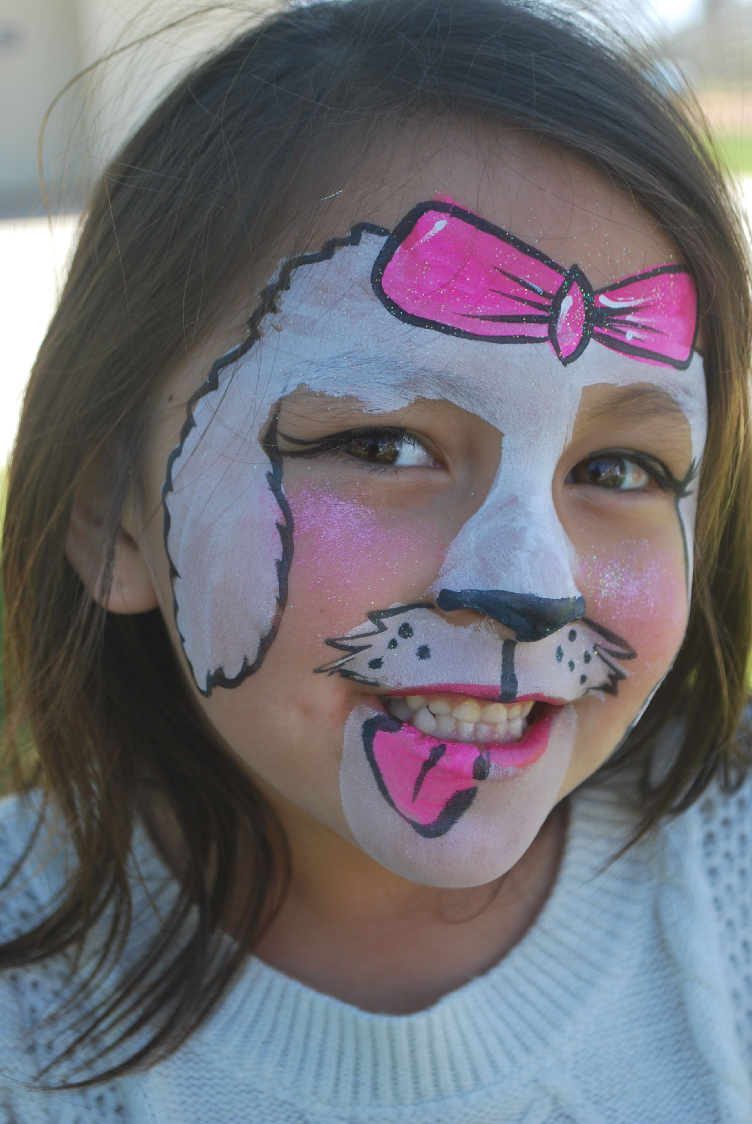Cute Puppy Face Painting