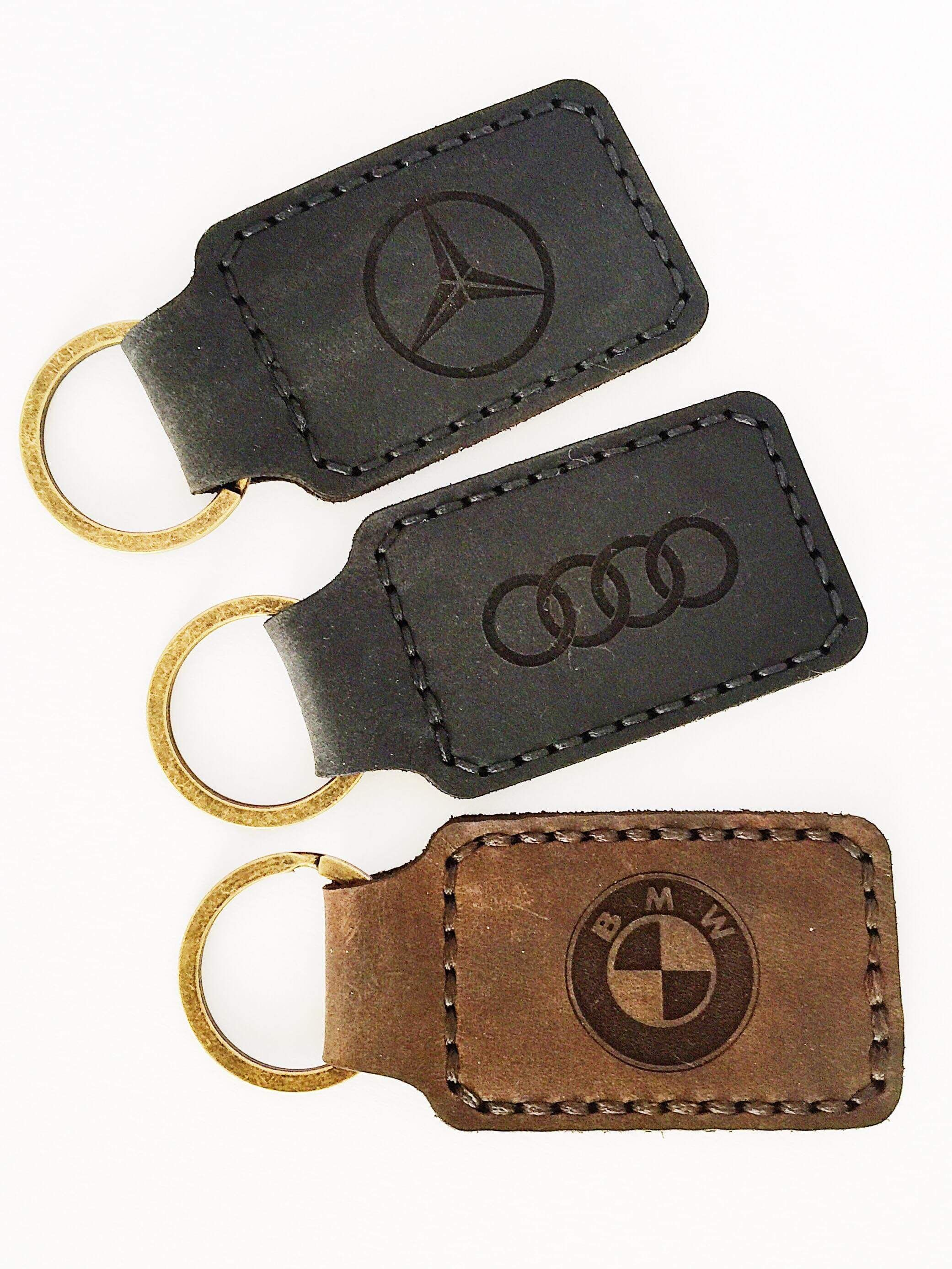 BMW Z4 Leather Keyring Handmade Laser Cut Gift