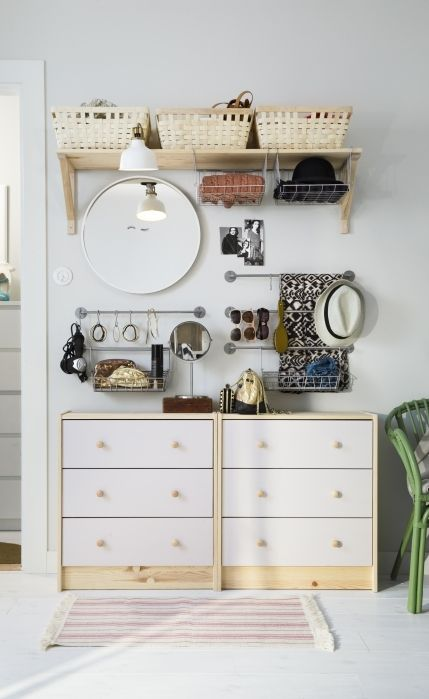 In A Small Bedroom, Donu0027t Forget To Think Of Ways You Can Use Your Wall  Space To Store And Organize Your Things. For Example, BYGEL Wall Rails,  Hooks, ...