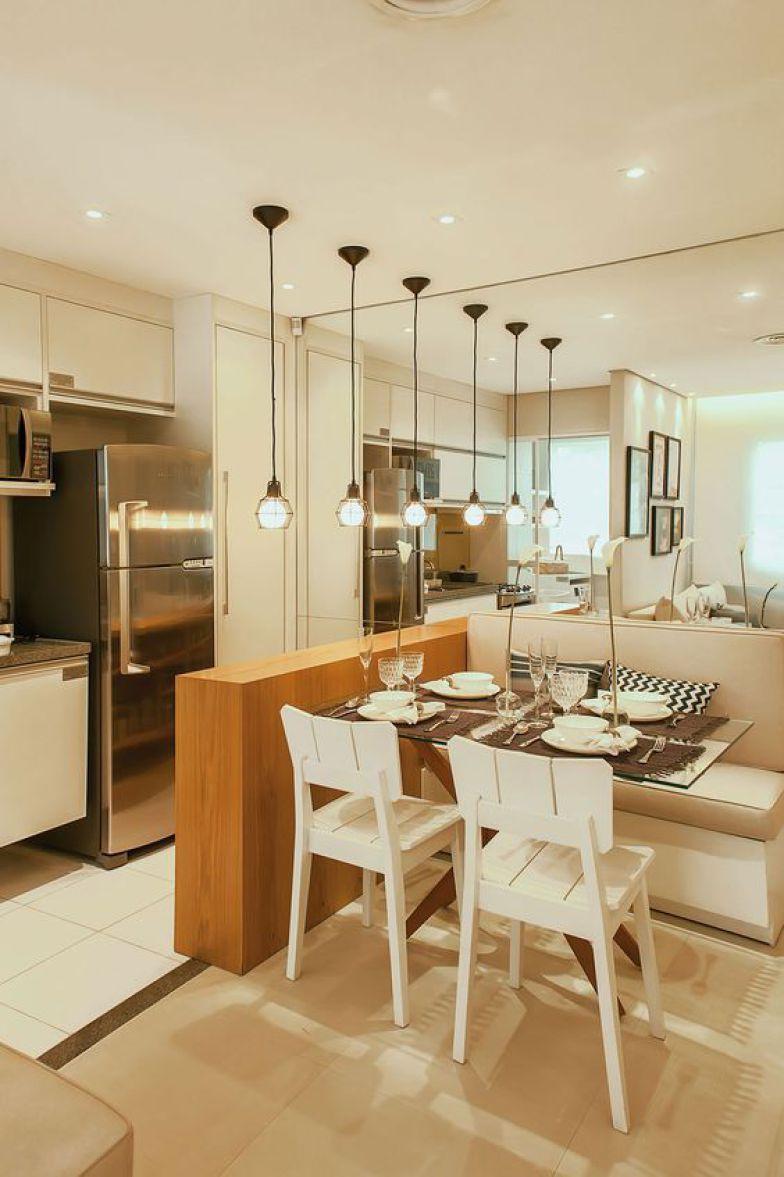 10 Mesas De Jantar Para Ambientes Pequenos No Pinterest Sala De  ~ Divisoria Para Cozinha E Sala