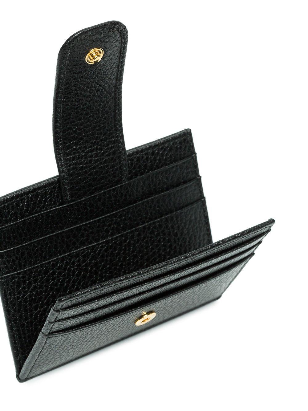 Gucci black gg marmont leather cardholder farfetch