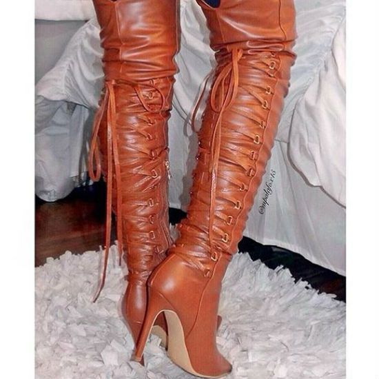 Hot Discount Deal! Thigh High Pointy Boots