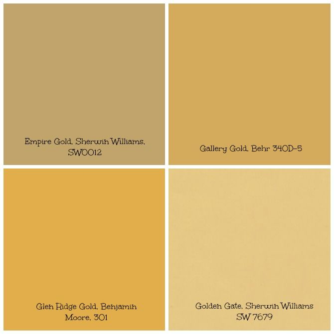Gold tinged wall paint can set creates a warm and bright for Bright neutral paint colors