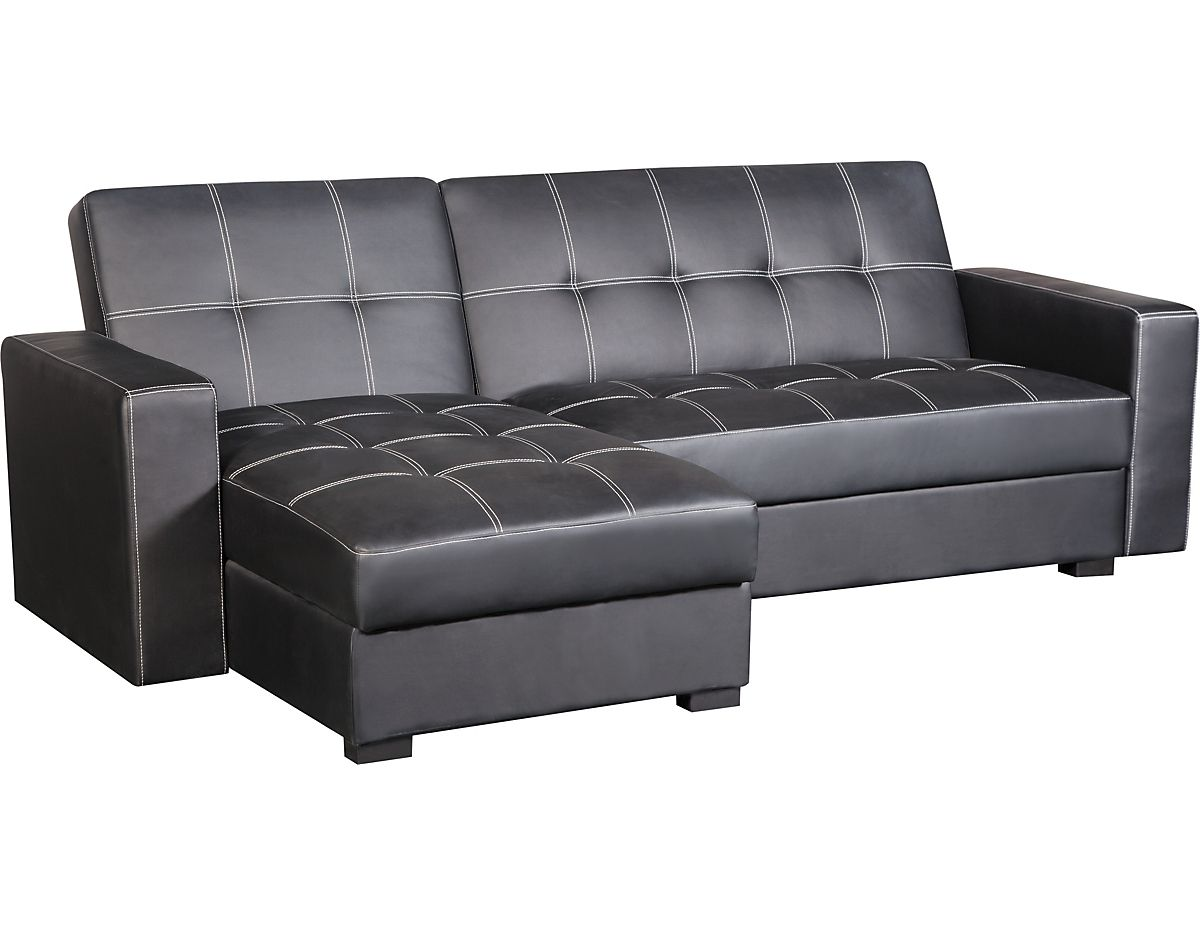 belize storage sofa bed with chaise black belizesc the brick rh pinterest com