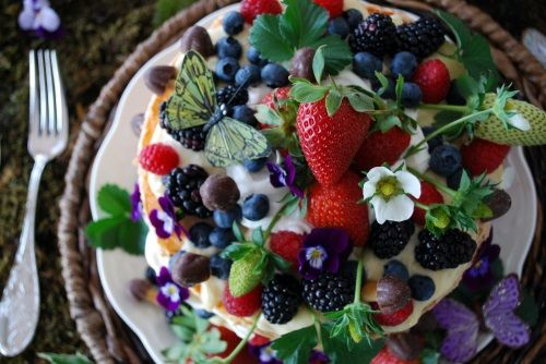 @Pinterest Need to use more edible flowers,not sure if strawberry flowers can be eaten but pansies can