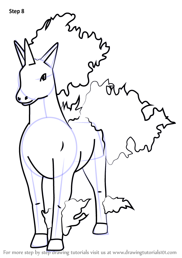 How To Draw Rapidash From Pokemon Go Drawingtutorials101 Com Drawings Pokemon Pokemon Go