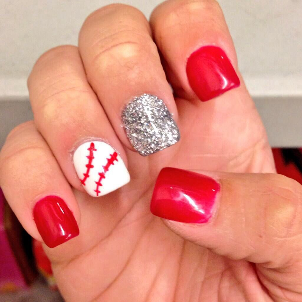 Baseball nails | nails | Pinterest | Nagelschere
