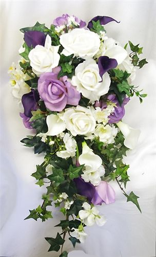 9ec9b4f82a0 white rose cascading bouquet