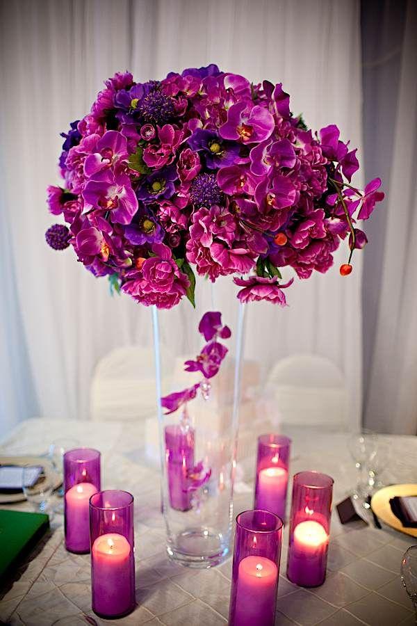 Purple Centerpieces