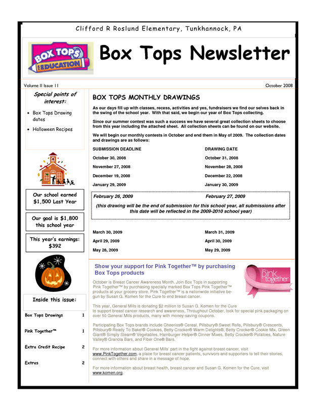 Box Tops Newsletter | Box tops contest, Box tops, ... Newsletter Templates With Bo on newsletter graphics, newsletter layouts, newsletter backgrounds, newsletter examples, newsletter samples, newsletter design, newsletter story topics, newsletter for kindergarten, newsletter to your health, newsletter header, newsletter formats, newsletter banners, newsletter clipart, newsletter newsletter, newsletter articles, newsletter titles, newsletter publishing, newsletter icons, newsletter ideas, newsletter cover,