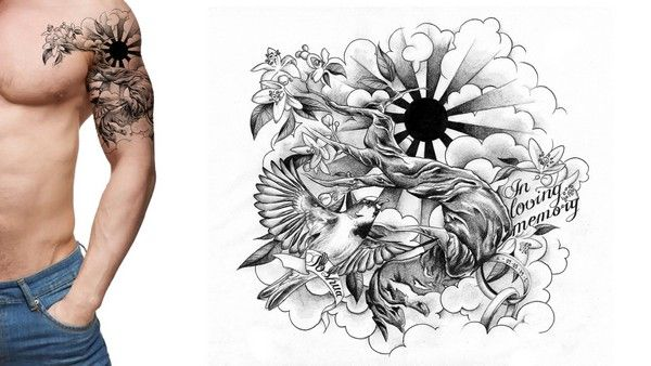 79 Extremely Creative Tattoo Drawings To Try At Home Custom Tattoo Design Tattoo Sleeve Designs Memorial Tattoo