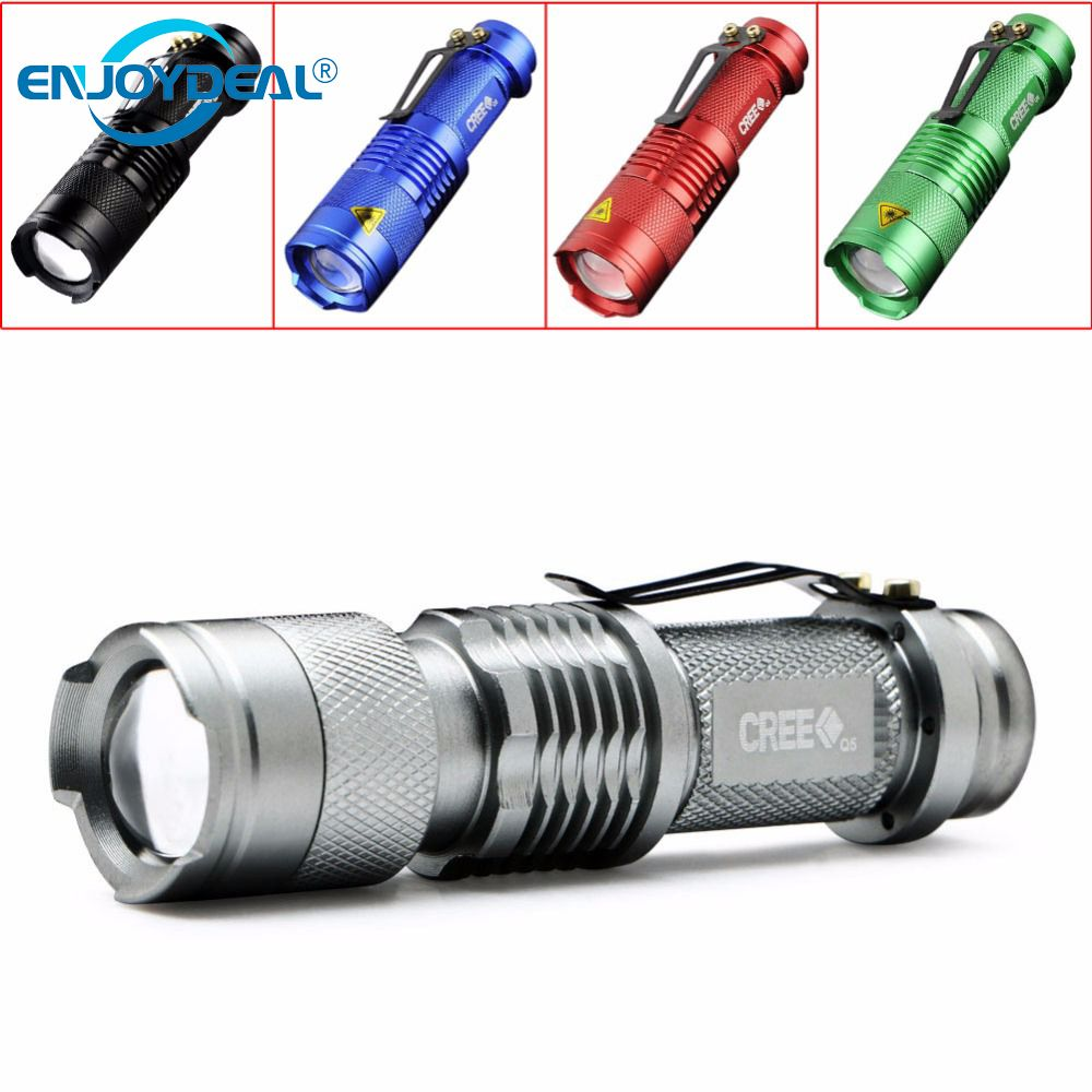 2018 New 5 Colors Mini Flashlight 2000 Lumens Cree Q5 Led Find Awesome Stuff Gizfrog Tactical Flashlight Mini Flashlights Flashlight