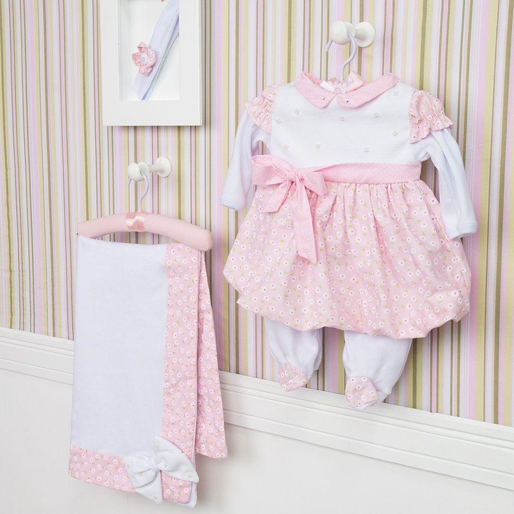 Saída Maternidade Vestido Balonê Alicie  ae69ec0e722