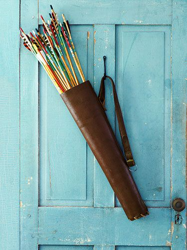 "Take aim at ho-hum wreaths and hunt down a cool vintage quiver filled with colorful arrows instead."" – Jourdan Crouch Fairchild, blogger, jourdancrouchfairchild.com"